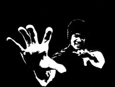 my first attempt to make a stencil and opted to do the legendary bruce lee he wasnt my first choice but still a great choice.
