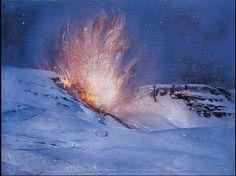 Giulio Arístide Sartorio: Esplosione di una mina (1918)
