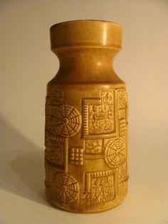 Original 1960s Vintage Ceramic Vase by by FrauleinCurlysShop
