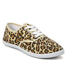 Another great find on #zulily! Brown Leopard Sneaker #zulilyfinds