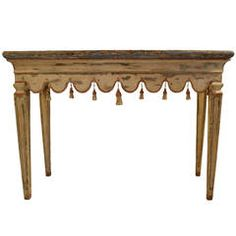 Italian Console Table | From a unique collection of antique and modern console tables at https://www.1stdibs.com/furniture/tables/console-tables/
