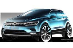 VW Tiguan Design Sketching