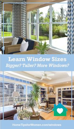 it's important to consider window sizes when building, remodeling or even replacing one/more windows because they control your view & natural sunlight Window Sizes, Big Windows, Outdoor Furniture Sets, Outdoor Decor, Window Design, Home Hacks, Modern House Design, Custom Homes, Beach House
