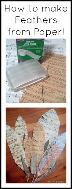 Click to see how to make feathers from paper!