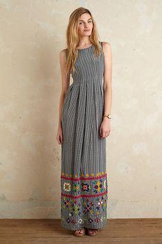 Anthropologie EU Devi Gingham Maxi Dress, Style No. 7130431401931