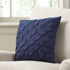Found it at Wayfair - Alda Pintucked Pillow Cover Blue Throws, Blue Throw Pillows, Wool Pillows, Throw Pillow Sets, Outdoor Throw Pillows, Accent Pillows, Decorative Throw Pillows, Pillow Covers Online, Applique Pillows