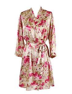 Find Dress Women's Knee-length Kimono Wedding Morning Robe
