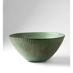 Bowl with vertical green lines Date: 1948 Artist: Laura Andreson