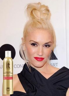 Freeze It Color Protection Brushable Hair Spray provides the perfect amount of hold to rock Gwen Stefani's messy top knot, while providing protection for her precious hair color.
