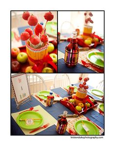 Back to School Ideas | Back to School Parties | How cute are these crayon and pencil-wrapped centerpieces?