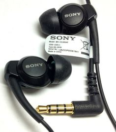 Original Sony Stereo Headset MH-EX300AP Handsfree Earphone for Xperia Z ZL V BLK #Sony
