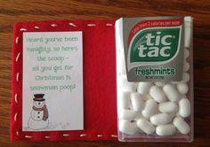 Snowman Poop Snowman Poop, Tic Tac, Christmas Ideas, Card Ideas, Mint, Diy Crafts, Crafty, Cards, Food