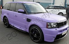 My dream car is a Range Rover and it's purple, so I want it.