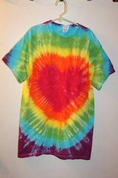 Rainbow Heart Size Small - Sunshine Tie Dye Shop