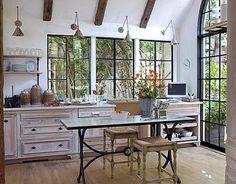 Willow Decor: Kitchen Trend - No Upper Cabinets