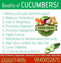 Health Benefits of Cucumber!