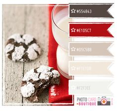 red & chocolate color palette