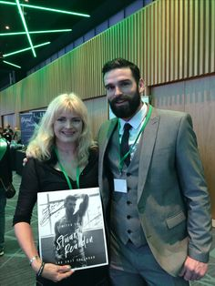 With the lovely Stu Reardon and the signed calendar he donated for a fundraising event to support the military charity Felix Fund