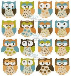 Owls 2 cross stitch pattern.