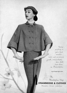 Dovima wearing Strawbridge & Clothier 1951