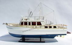 Grand Bank 42 trawler model ready for display.