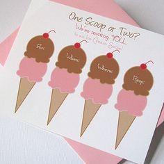ice cream social + invites + party