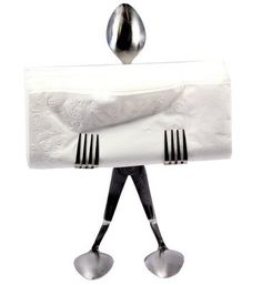 Amazon.com: Forked Up Art Stainless Steel Napkin Stand - Spoon: Home & Kitchen