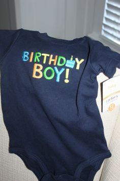 Carters Birthday Boy Onesie 12 Months