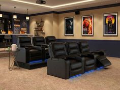 Different home theater seating alternatives for you to check out. See a lot more ideas concerning Home theater seats, Home theater and Theater seating. Home Theater Room Design, Movie Theater Rooms, Home Cinema Room, Home Theater Decor, Home Theater Seating, Home Decor, Theater Seats, Movie Theater Basement, Home Theater Lighting