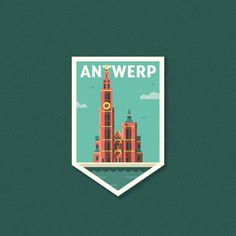 Quick design for the #citybadgelogochallenge  This was based on my icon of the Antwerp cathedral (previous post). . @logoinspirations @_lucasfields . #timvandenbroeck #city #antwerp #thisisantwerp #antwerpcity  #badge #citybadge #illustration #design #graphics #illustrator #vectorillustrator