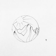 Image result for mountain and sun tattoo minimalist