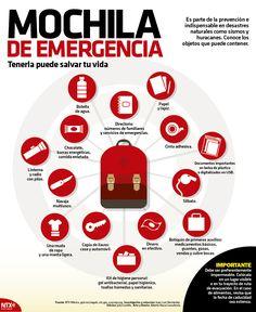 ¿Conoces los objetos indispensables que conforman una mochila de emergencia? ⛑️ #InfografíaNTX salvaguarda tu integridad y te orienta en el armado de este vital elemento.