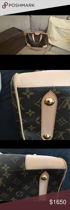 Authentic DISCONTINUED Louis Vuitton Retiro GM BEAUTIFUL DISCONTINUED AUTHENTIC Louis Vuitton RETIRO GM! Purchased new in Nov 2016!LITERALLY used twice!!! It will come with the dustbag, receipt and box! FANTASTIC condition has scuffs on 2 corners! I think it's dirt, but I'm afraid to clean it due to the lightness of the vachetta! A TINY pen mark(or eye pencil mark) inside. The bag is VERY light. Dimensions are 16 x 11 x 6 the largest in the Retiro family! NO INTERNATIONAL SHIPPING! Louis…
