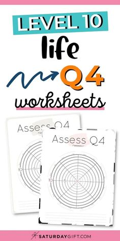 Before setting goals for Q4, assess your life with the quarter four wheel of life/level 10 life worksheet and find out whether you're thriving, suffering or surviving in different areas of your life.  Find what you need to print so that you can find your focus with these cute worksheets.  #planning #simple #printable #goals #free #worksheets