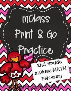 This is my February edition of mClass math practice sheets for 2nd graders. This packet includes practice for number facts, missing number, concepts, computation, and quantity discrimination. There are five sheets per skill. 25 sheets total, ready to PRINT!