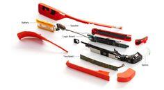 #جيكس_العرب نظاره جوجل مفككة #Glass تكلفهم 80 دولار فقط .. أغلى جزء فيها هو المعالج - القديم نسبيا - و الذى يكلف 14 دولار #جوجل تبيع النظاره ب 1500 دولار