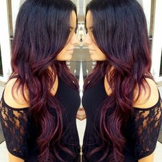 Love this Ombre color dark to red!
