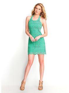 Идея: Flor Холтер платье