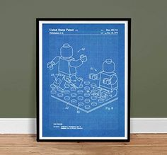 LEGO MINIFIGURE Poster Toy Building Construction Blocks 1979 Patent Poster Print 18 x 24 MiniFig Gift Blueprint Isometric Drawing Reproduction The Lego Movie Price : $24.95 http://stevesposterstore.hostedbywebstore.com/MINIFIGURE-Poster-Construction-Blueprint-Reproduction/dp/B00N1978KW