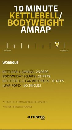 10 Minute Kettlebell/Bodyweight AMRAP Workout | Posted By: NewHowToLoseBellyFat.com