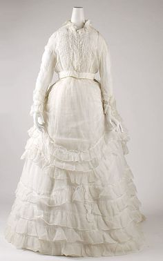 Dress    Date:      1870s  Culture:      American  Medium:      cotton    a little early but it reminds me of the ocean