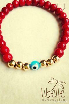 Collar oro y rojo