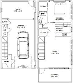 20x40 House -- #20X40H7H -- 1,053 sq ft - Excellent Floor Plans