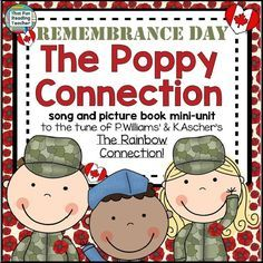 The Poppy Connection Free Picture Book in Song (Veterans' Day and Remembrance Day Versions) by That Fun Reading Teacher at Teachers Pay Teachers Social Studies Activities, Teaching Resources, Teaching Ideas, Educational Activities, Veterans Day Poppy, Remembrance Day Art, Anzac Day, Kindergarten Activities, Kindergarten Reading