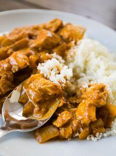 Healthy Butter Chicken with Cauliflower Rice (dairy-free and gluten-free)