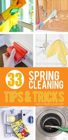 33 Really Helpful SPRING CLEANING Tips & Tricks | via Make It and Love It