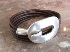 1 Zamak buckle clasp silver plated (1 piece) - for a round strip of leather or other cross sections fitting (ZC26) on Etsy, 6,80 $