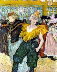 Blog de mocasaki :peintres témoins de notre temps, Henri de Toulouse Lautrec - au Moulin Rouge , la clownesse Cha-U-Kéo