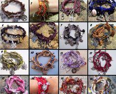 Wrap Charm Bracelet  by Sewstacy, $22.50