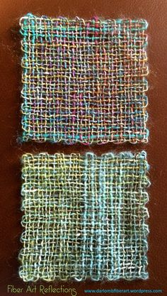 Fiber Art Reflections: Pin Loom Squares made with Queensland Collection Uluru fingering weight yarn
